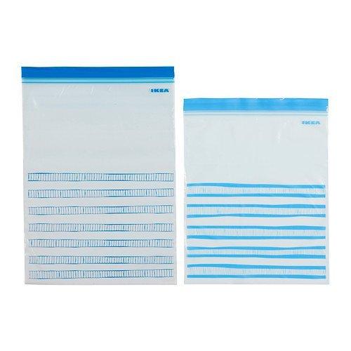 Kunststoffbeutel türkis wieder verschließbar 15x 4,5l  15x 6l ISTAD von Ikea