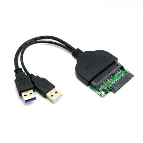 JSER 1 set USB 3.0 naar SATA 22Pin & SATA naar Micro SATA-adapter voor 1.8