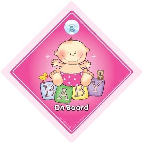 Baby On Board, Big Rose, panneau bébéà bord, bébéà bord, petit-enfant à bord, Baby Girl On Board, panneau bébé, bébé Sign, Coque, autocollant de voiture, autocollant de voiture, autocollant, bébé Graphic