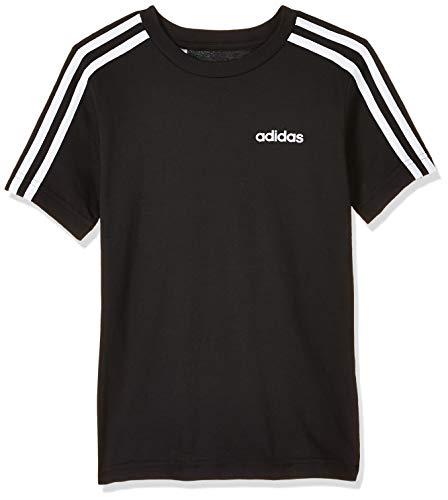 adidas Jungen Essentials 3-Streifen T-Shirt, Black/White, 176