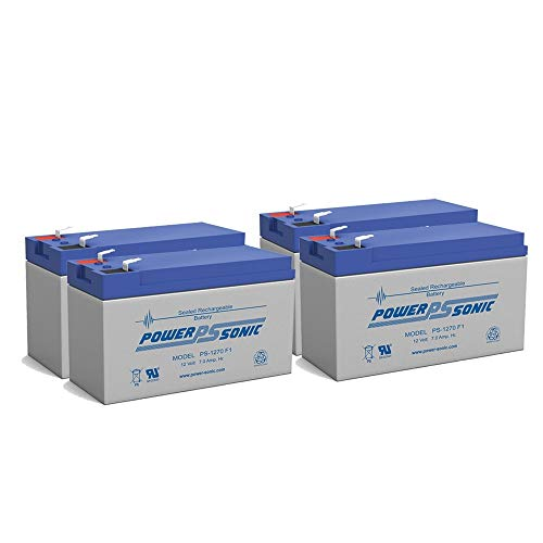 Power Sonic 12V 7Ah Battery Replacement for ION Audio Raptor - 4 Pack
