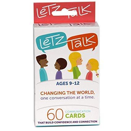 Letz Talk Conversation Cards for Kids -...