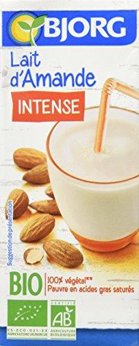 Bjorg Lait d'Amande Intense Bio - 100% végétal - Pauvre en acides gras saturés - 3 mini briques de 20 cl