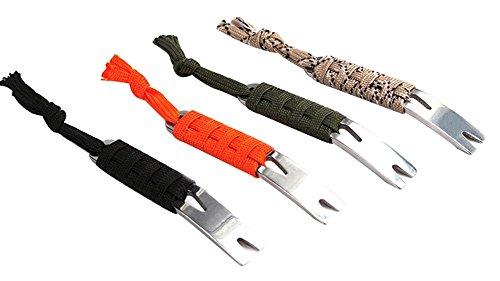 Binglinghua Tragbare Hot EDC Gear Kurbel Brecheisen Brecheisen Schlüsselanhänger Survival Scraper Multi-Tool (4 Stück zufällig)