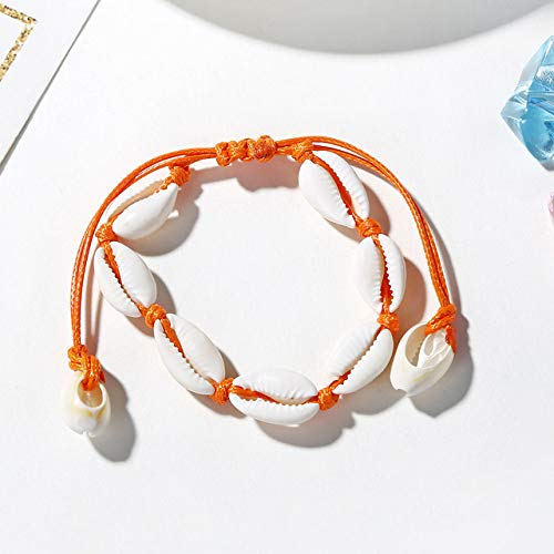 WEIYYY New Shell Conch Rope Anklets For Women Foot Jewelry Summer Beach Barefoot Bracelet Ankle on Leg For Women,B391
