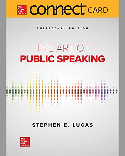 Compare Textbook Prices for Connect Access Card for The Art of Public Speaking 13 Edition ISBN 9781260412888 by Author