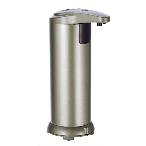TOPBATHY Dispenser Sapone Automatico Dispenser Sapone Touchless con Sensore a Infrarossi Dispenser Sapone Liquido Automatico Dispenser Sapone Bagno in Acciaio Inox (Champagne)