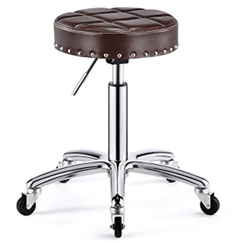 WEIYV- Stühle,Dreh- & Arbeitshocker, Schönheitsstuhl Drehen Hebe-Hocker Explosionsgeschützter Haarschnitt Große Arbeit Friseur-Hocker Runde Riemenscheibe Master-Stuhl