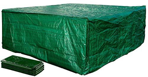 Royal Gardineer Abdeckung: Gewebe-Abdeckplane für komplette Garten-Sitz-Garnitur, XL, 150 g/m² (Abdeckhauben)