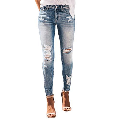 Feytuo Femme Jeans Jeggings Taille Haute Femmes Straight Denim Pantalon Stretch Denim Pantalon Sexy...