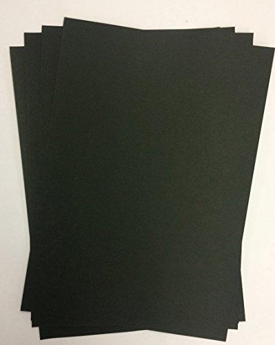 100 vellen DIN A3 zwart papier karton, 400 g/m2, volledig gekleurd, voor albums, bruiloftskaarten, fotoalbum, knutselwerk