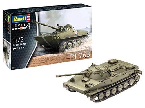 Revell 03314 PT-76B originalgetreuer Modellbausatz für Fortgeschrittene, unlackiert