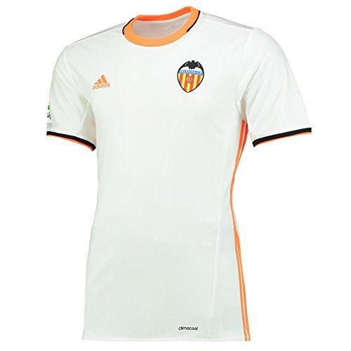 adidas 1ª Equipación Valencia CF Camiseta, Hombre, Blanco, XL