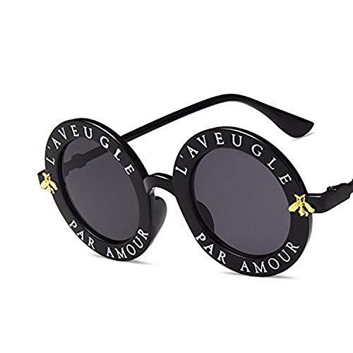 YUHANGH Kleine Biene Luxus Sonnenbrille Frauen Männer Brille Dame Runde Sonnenbrille Hip Hop Style De Sol Gafas