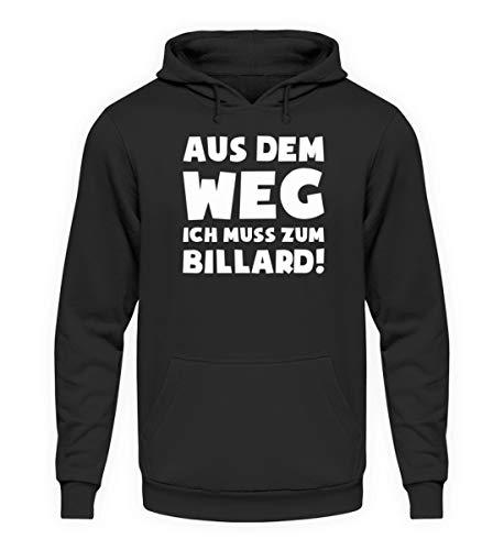 shirt-o-magic Snooker: Muss zum Billard! - Unisex Kapuzenpullover Hoodie -XXL-Jet Schwarz