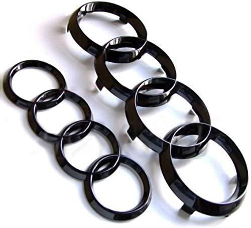 Emblema de anillas negras y brillantes para rejilla delantera y trasera