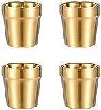 4 Piezas Taza De Acero Inoxidable Apilable, Taza De Café/Taza De Té/Vasos De Cerveza para Enfriar, Ideal para Viajes, Al Aire Libre, Camping