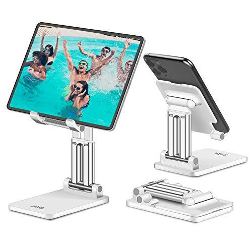 JPARR Soporte Tablet Móvil, Soporte Tablet Mesa Ajustable Multiángulo, Soporte para Tableta Plegable Portátil, Compatible con Móvil, Tablet, Kindle, Switch y Otros Dispositivos Menos de 12,9 Pulgadas
