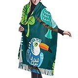shenguang Bufanda de invierno para mujer Cashmere Feel Winter Frozen Viburnum Under Snow First Bufandas Abrigos de chal con estilo Suave y cálida Manta Bufandas para mujeres
