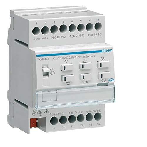 Hager Heizungsaktor 6fach KNX TXM646T Easy f. 24/230V Bussystem-Heizungsaktor 3250618502015