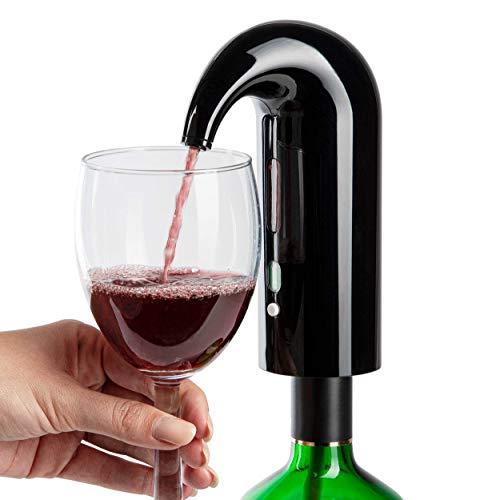 ONVAYA® Aireador y Decantador de Vino Eléctrico | Negro | Decantador de Vino | Dispensador de Vino | Decantador Rápido | Decantador de Vino Automático | Decantador de Vino