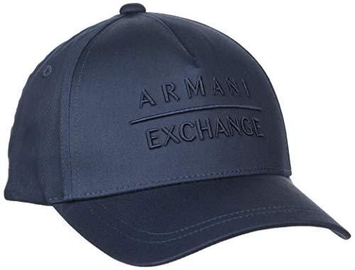 Armani Exchange Herren horizontal Logo Baseball Cap, Blau (Navy-Navy 37735), (Herstellergröße: One Size)