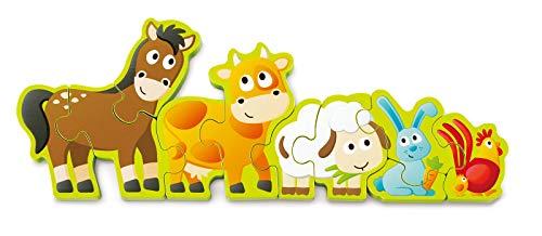 Hape E1628 Puzzle Zahlen & Farmtiere