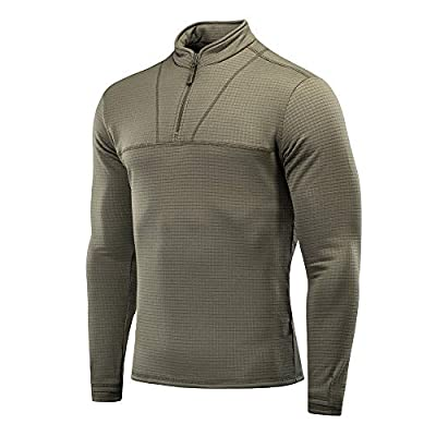 Delta Level 2 Mens Top Thermal Underwear for Men Fleece Lined Compression Shirt (Army Olive, XXXL)