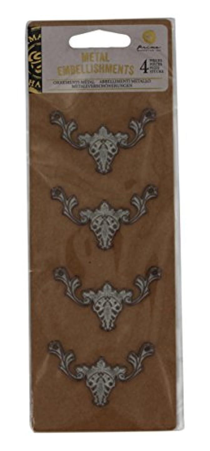 Prima Marketing 655350583095 Metals for Wood Plaque 4 Scrapbooking Embellishments