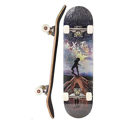 Komplett Skateboards, Standard Skateboards PU Räder ABEC7 Lager for Anfänger Starters Kinder Jungen Mädchen Jugend 31