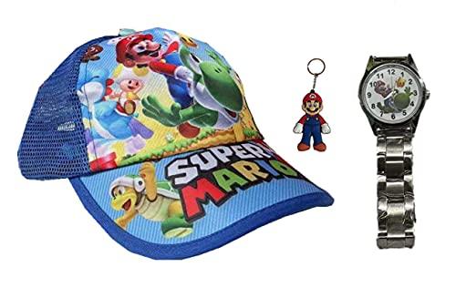 Reloj super mary hat Super Mario Cappy gorra de cosplay sombrero plano adulto
