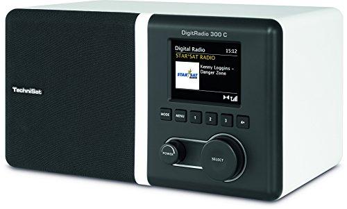 TechniSat DIGITRADIO 300 C – DAB+/UKW Uhren-Radio (Digitalradio inkl. Radiowecker mit Weckzeiten, Sleep- und Snoozefunktion, 5 Watt, Equalizer, Kopfhörer, Farbdisplay, Favoritenspeicher) schwarz