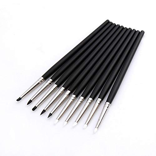 OKIl 5Pcs Dental Adhesive Composite Resin Cement Porcelain Tooth Silicone Brush Pen Dental Tools