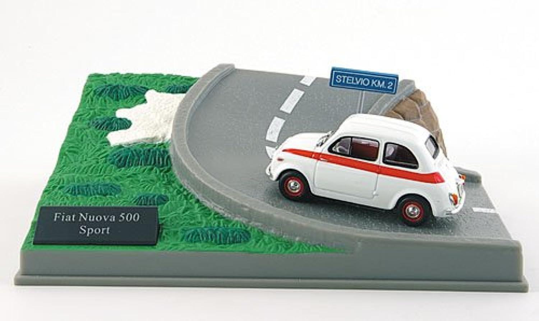 Fiat Nuova 500 Sport, weiss rot, Diorama, Modellauto, Fertigmodell, MCW-SC29 1 43 B004V3OCNS Günstige Bestellung    Sale Deutschland