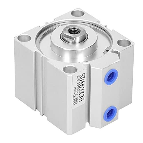 Agatige Cilindro de Aire neumático de Calibre SDA63X30, Equipo de Hardware de Aluminio Compacto y Fino de Doble acción para maquinaria Industrial