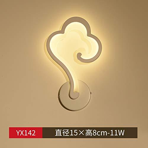 Agorl Lampe de chevet créative moderne simple Nordic chambre salon escalier allée lumière de fond, YX142 lumière chaude