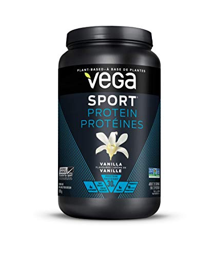Vega Sport Protein Powder Vanilla 828 g - Plant Based Vegan Protein Powder, BCAAs, Amino Acid, Tart Cherry, Non Dairy, Keto-Friendly, Gluten Free, Non GMO …