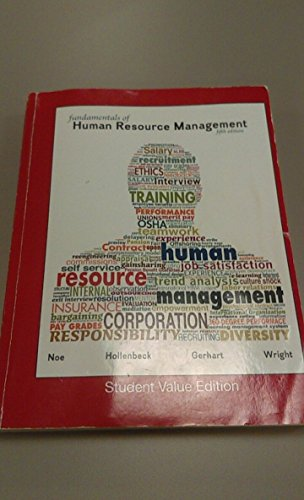 By Hollenback, Gerhart, Wright Noe Fundamentals of Human Resource Management Student Value 5th Edition [Paperback]