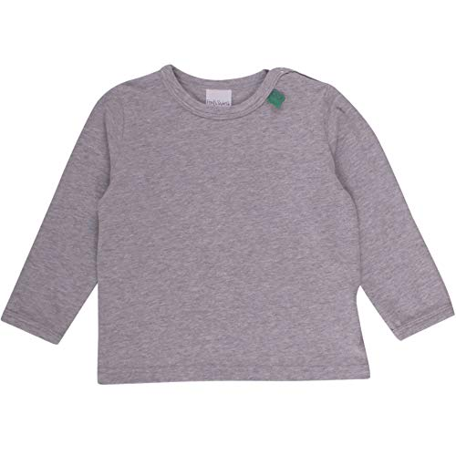 Fred'S World By Green Cotton Alfa l/SL T Noos Baby T-Shirt, Gris (Pale Greymarl 207670000), 12 Mois (Taille Fabricant: 80) Mixte bébé