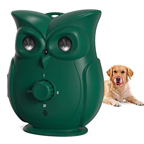 Appareil anti-aboiement à ultrasons - Appareil de contrôle de l'écorce de chien - Appareil de dissuasion anti-aboiement rechargeable - Pour chiens de grande taille et moyenne taille