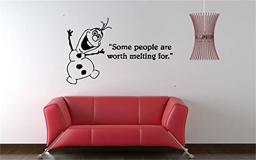 stickers muraux 3d Gelée Olaf Bonhomme De Neige Disney Nursery Enfants Chambre Decal Image Pour Salon Pour Chambre Pour Chambre Des Enfants