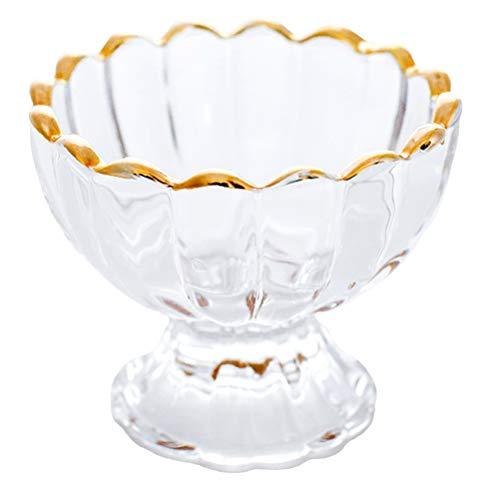 Cabilock Cuencos de cristal para helados y postres, 150 ml, para postres, helados, cócteles, cócteles, helados, vasos, copas para smoothie pudding yogur