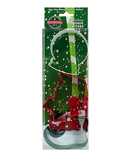 R&M International Weihnachts-Ausstechformen, Schneekugel, Elfengesicht, Elfenschuh, 3-teiliges Set