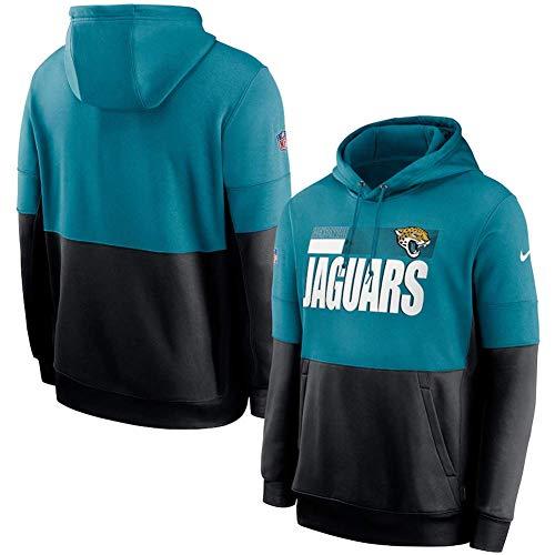 NFLSHX LGG - Sudadera con capucha para hombre, diseño de Jaguars estadounidenses americanos para entrenamiento (color: G, tamaño: grande)