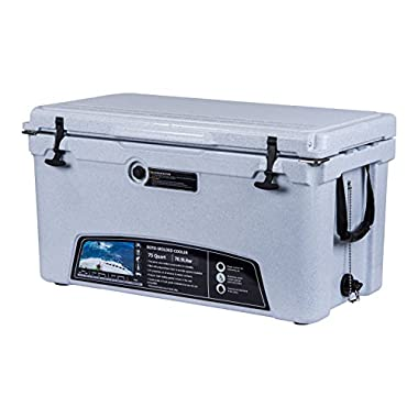 MILEE-Cooler 75 QT (ROTO-MOLDED) Marble ($50.0accessories sent free) Hanging Wire Basket ,Cooler Divider and Cup Holder are FREE