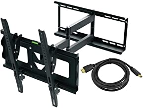Full Motion TV Wall Mount Kit And HDMI Cable For 19