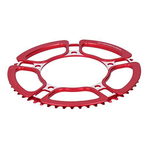 Vbest life Fahrrad Kettenrad Kurbel Single Speed 53t Hohlrad Modifikation Zubehör Fahrradzubehör(rot)