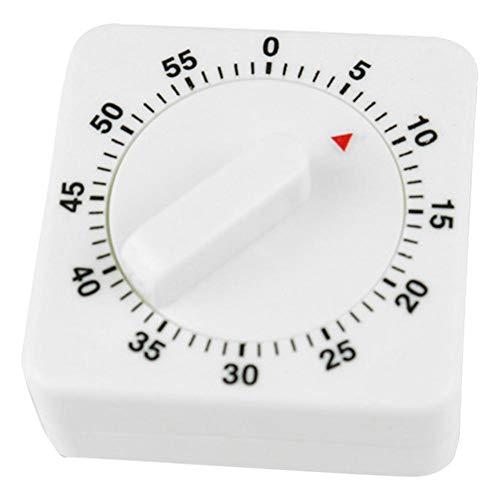 fossetessss iTemer Minuteur mécanique de cuisine analogique Minuterie de cuisine Minuterie de rappel Blanc