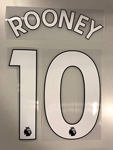 Flock Original Premier League Trikot 23cm - Rooney 10