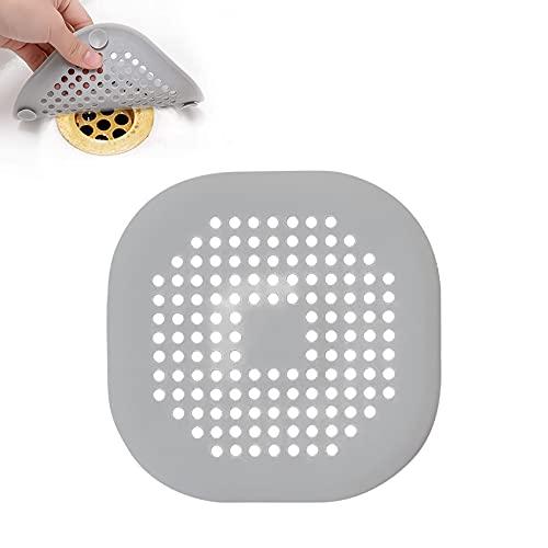 JeoPoom Protezione per Scarico in Silicone, Filtro di Scarico con Ventosa per Lavello, Doccia, Vasca e Bagno, Colino Filtro di Scarico della Doccia Silicone(Grigio)